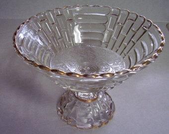 Antique Center Piece Cut Glass Fruit Bowl