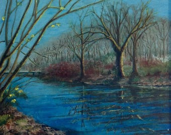 Landscape Painting: a Glimpse of Spring