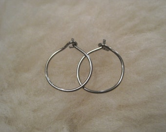 Relief Hoops - 20 gauge Niobium or Titanium Hoop Earrings - Nickel Free Hypoallergenic Earrings for Sensitive Ears