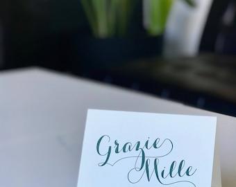 Grazie Mille - Thank You Notecard Set