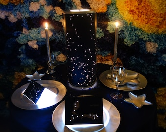 Shadow Star Constellations Shade & Table Lamp CENTERPIECE - Spring Night Sky North-Western Hemisphere - Planetarium New Year's EveWedding