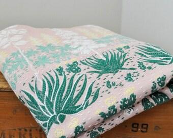 RESERVED FOR MEAGHAN.... Vintage Bates Pink Floral Bedspread 82 by 82