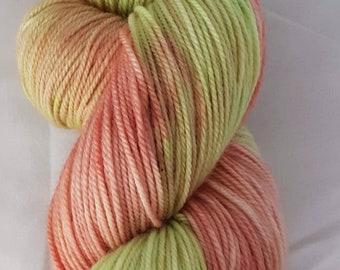 Free Shipping Canada,  USA Hand Dyed,  Merino/Nylon/Cashmere, 4 ply sock yarn 100G 350m, fingering sock yarn