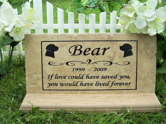 Lab Memorial Plaque- Italian porcelain tile 12x6- Maintenance Free