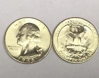 Lot(1 Coin)1946 S BLAZING GEM BU Washington Silver Quarter From Original Roll