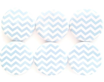 Magnets Chevron Magnets Fridge Magnets Baby Blue Chevron Magnets Refrigerator Magnets Decorative Magnets Kitchen Dorm Locker Magnets, 6/Set