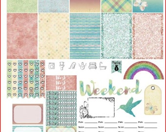 Sunshiny Day Printable Stickers for The Happy Planner