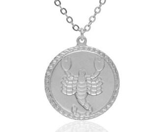 Scorpio necklace Silver Zodiac Necklace scorpion necklace constellation necklace, zodiac jewelry, minimalist necklace dainty