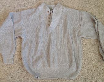 Ladies Cabelas Sweater Vintage Tan Oversize  Size Small