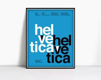 20x30 Gicleè Suisse Swiss Helvetica Type Specimen Poster