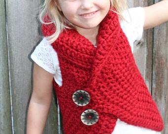 Crochet Sweater Vest, Child's Crochet Sweater, Chunky Sweater, Warm and Cozy Crochet Sweater for Kids