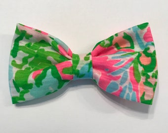 Southern Charm Flamingo Pink Lilly Pulitzer bow