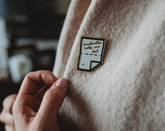 Enamel Pin - Handwritten Notes are Best