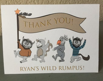 Where theWild Things Are Thank You Note