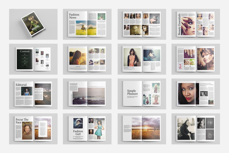 Fotografie-Magazin Vorlage 32 Seiten Fotografie Broschüre
