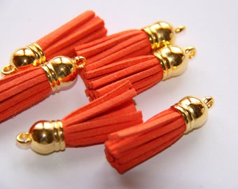 38MM ORANGE SUEDE TASSEL