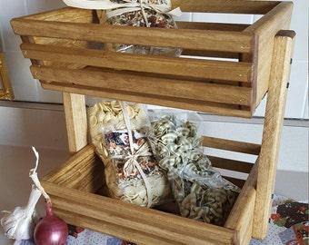 Storage Basket, Golden Oak, Kitchen Storage, Vegetable Bin, Market Basket, Wooden Basket, Vegetable Storage, Fruit Basket, Organization