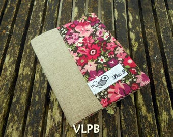 Beige linen and liberty Thorpe pink card holder
