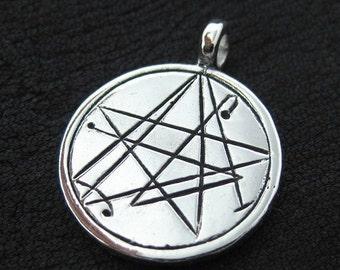 Silver Simon Necronomicon pendant