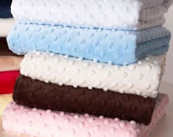 2 MB Sheets - Super Soft Minky dot - choose your color and size