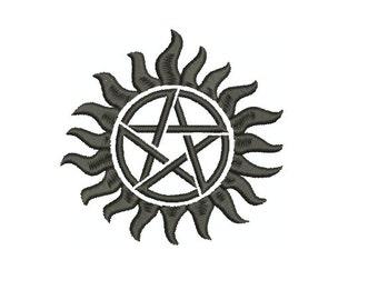 """Machine Embroidery Design - Supernatural """"Anti Demon Possession"""" Glyph"""