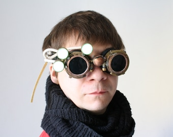 Steampunk goggles with LEDs