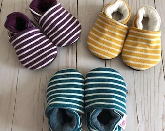 CUSTOM Stripes Soft Soled Shoes