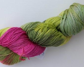 Hand painted Superwash Merino Tencel (50/50) Sock Yarn / Fingering weight in Ecru - 4 ounces Ashland Bay's Crystal Creek