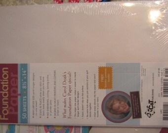 "Foundation Paper, Carol Doak's, 50 sheets, Legal size, 8 1/2"" x 14"""