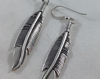Casted Feather Earrings