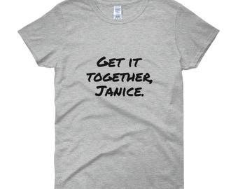 Women's short sleeve t-shirt Get It Together Janice