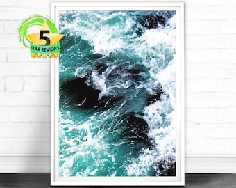 Ocean Photo, Ocean Prints, Ocean Photography, Ocean Art, Sea, Ocean Poster, Ocean Wave, Ocean Wall Art, Ocean Prints, Sea Poster, Blue Ocean