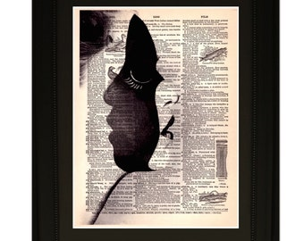 """Personality"""".Dictionary Art Print. Vintage Upcycled Antique Book Page. Fits 8""""x10"""" frame"""