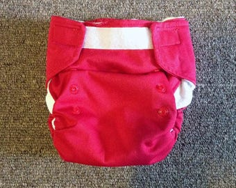 Red AIO Cloth Diaper