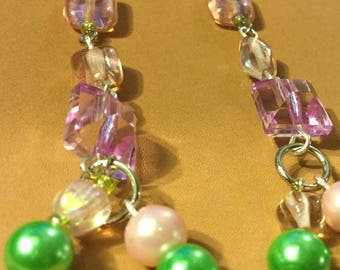 Black Friday Sale R.I.O.T. Pink and Green Earrings