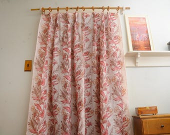 SINGLE PANEL Pink Floral Curtain Panel