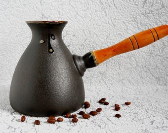 Kitchen Gift For Women Gift, Handmade Coffee Maker, Glazed Pottery,  Espresso Maker Home