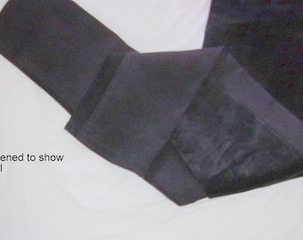 Vintage Absolu Paris Black Front 1/2 Suede-1/2 Stretchy Back Skinny Pants-Skintight