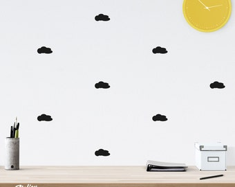 Kit of stickers wall clouds color choice