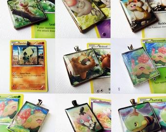 Upcycled Pokemon pendant necklace / keychain