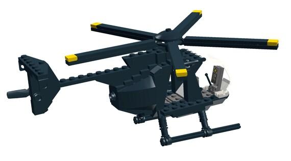 Lego Building Instructions: Hughes MH-6 Little Bird