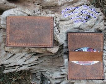 Buffalo Leather Business Card Case