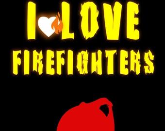 Vinyl decal/sticker I LOVE FIREFIGHTER