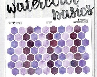 Watercolor Honeycomb Dot Stickers - Violet - Purple - Wisteria - Markers - Dots - Planner Stickers