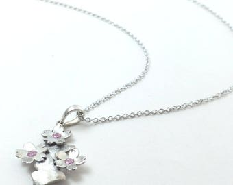 Cherry blossom necklace Sakura jewelry japanese jewelry Skura gingko necklace