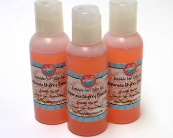 Japanese Cherry Blossom Body Wash Bubble Bath Shower Gel 2 Oz. Travel Size 2-in-1