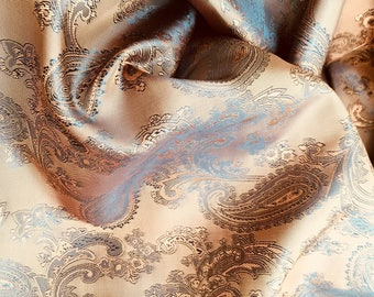 Copper, Tan, Jacquard, Lining, Skirt, Suit, Prom Fabric, By the Yard