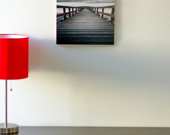 Bamboo Block, Pier, Boardwalk, Orcas, Island, Nw, living room, wall art, wood, print, original photography, pacific, nautical, boat, water