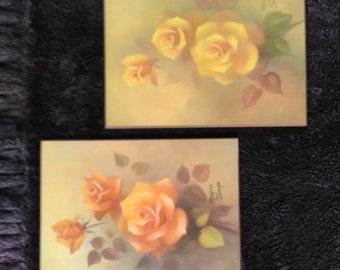 Lovely rose oil paintings by Margorie Sharpe
