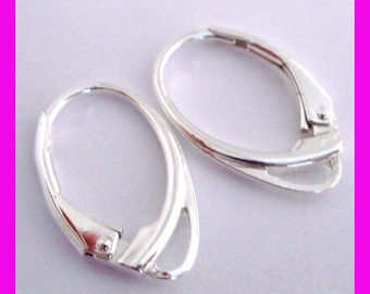 925 Sterling Silver Leverback fish hook  Earring Ear Wire Lever Back made in USA  E90